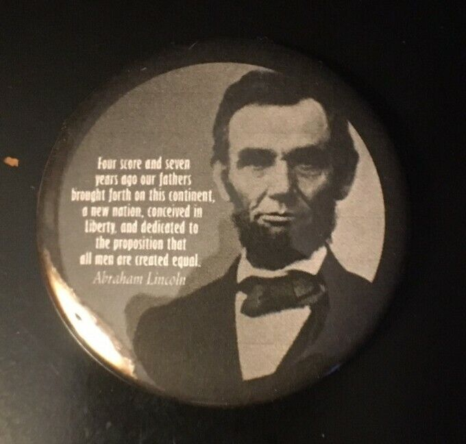 Abraham Lincoln Pinback Button 2.25""