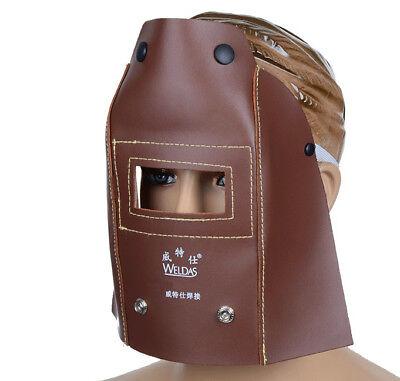 Weldas Mig Tig Arc Welding Face Shields Masks Hood Leather Helmets Welding Hat
