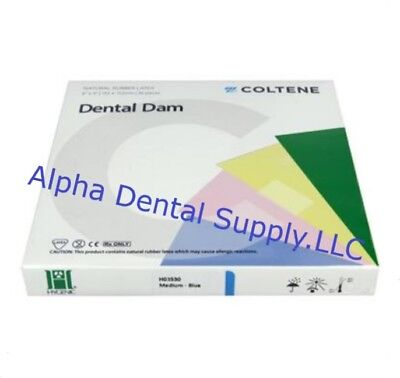 Hygenic Coltene Dental Rubber Dam 6x 6 Medium Blue 36box