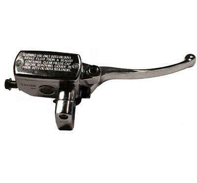 CHROME RIGHT MASTER CYLINDER WITH LEVER 150T-E VINTAGE ZNEN BMS HERITAGE 150cc