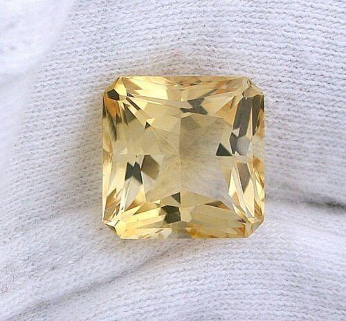 12mm Brazilian Square Octagon Princess Golden Citrine Gem Stone Gemstone EBS8321