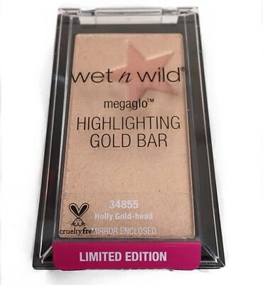 - WET N WILD MEGAGLO HIGHLIGHTING GOLD BAR - HOLLY GOLD-HEAD #36180 - NEW, SEALED