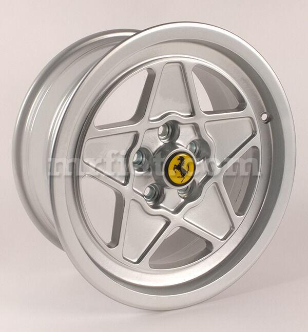 """Ferrari Mondial 8 Qv 3.2 Silver Five Spoke 7+8 X 16"""" Wheel Set 4 Pcs New"""