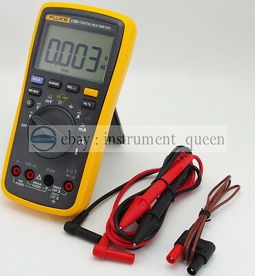 Fluke 17b Digital Multimeter Meter Tester Dmm With Tl75 Test Leads F17b