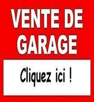 GRANDE VENTE-DÉBARRAS / HUGE GARAGE SALE