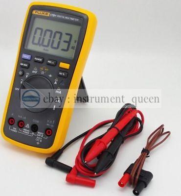 Fluke 17b Digital Multimeter Meter Tester Dmm With Tl75 And 80bk-a