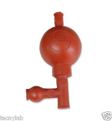 Pera de Goma 3 vias Roja /Pipette Fillers with 3 valves RED