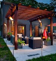 DESIGN SUR MESURE; PERGOLA, PATIO, PAVÉ & PLUS  !!