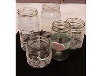 Wedding decor jars / candle holders