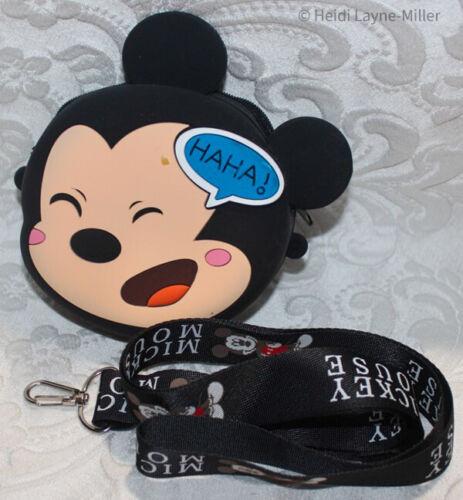 Disney Mickey & Minnie Mouse HAHA & KISS ~ Tigger Coin Purse Crossbody Bag US