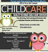 Child Care spot available in September