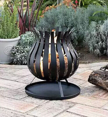 Bulb Fire Basket Fire Pit Garden Patio Heater Chimenea New Boxed - FREE DELIVERY