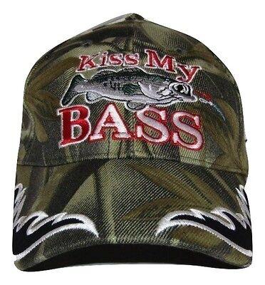 Redneck Hillbilly Kiss My Bass Camo Camouflage fish fishing cap #3 CAP920 Hat - Redneck Hats
