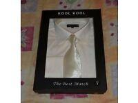 Men's Shirt with Tie and matching Cufflinks (Size Medium/Brand New)