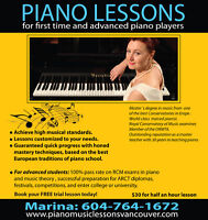 High Quality Piano Lessons with world class piano teacher