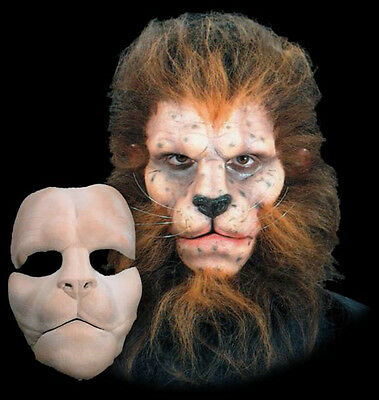 Lion Beast Animal Halloween Mask Foam Latex Prosthetic Appliance Moves with Face