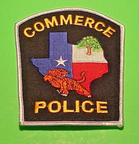 "COMMERCE  TEXAS  TX   POLICE PATCH  4 7/8""  FREE SHIPPING!!!"