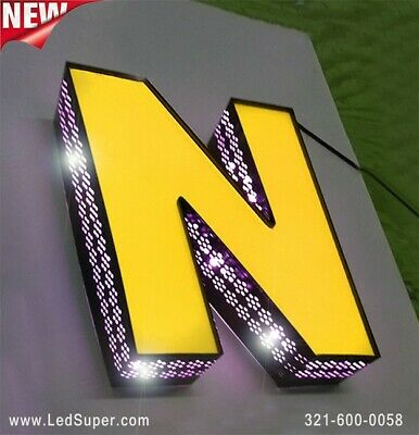New Led Channel Letters Sign Front Lit And Side Lit - 10 - Custom Made