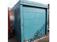 Empty box removed from LDV van trailer storage garage