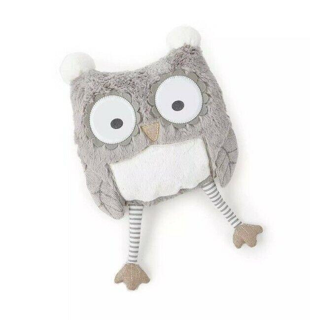 Levtex Home Baby Night Owl Pillow Taupe Nursery Design Gray Contemporary Modern