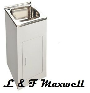 Details about High Grade Stainless Steel Compact Laundry Tub - 35L
