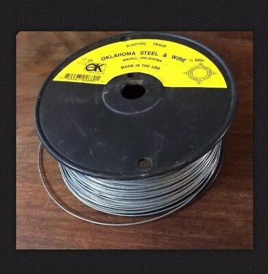 Oklahoma Steel Wire Co. 17 Gauge 14 Mile Electric Fence Wire