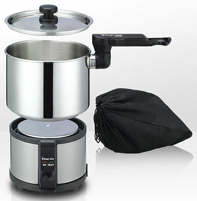 Electric Cooker Travel Portable Multi Mini Stainless Steel Camping Pot MagicChef