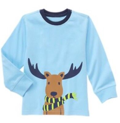 Gymboree Boy Blue Reindeer Moose Tee Size Nwt Mix N Match Size 3T