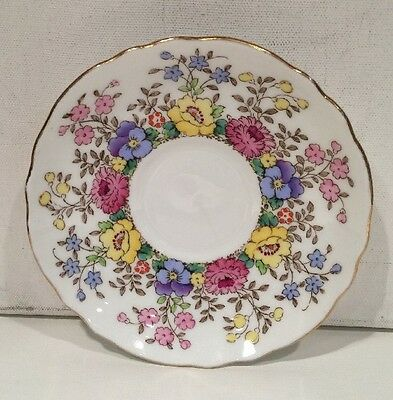 Crown Staffordshire Fine Bone China Saucer Collectible Made In England
