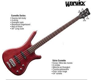 Warwick Corvette Bass Guitar. Made in Germany. Brand new.