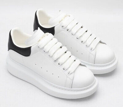 Alexander McQueen Oversized Sneakers Size Men US 8 EU 40 White/Black