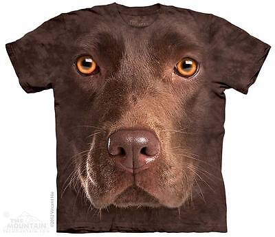 Chocolate Brown T-shirt (Brown Chocolate Labrador Retriever Dog Puppy T Shirt The Mountain Lab Tee S-5XL)
