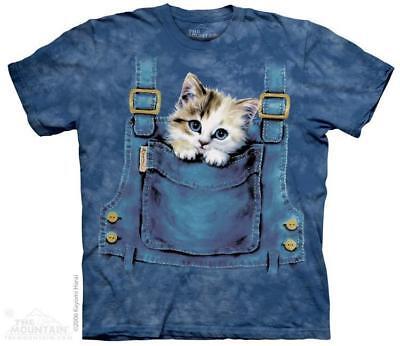 Kitty Kitten in Overalls Pocket The Mountain T-Shirt (1016) All Sizes - Overalls Pocket T-shirt