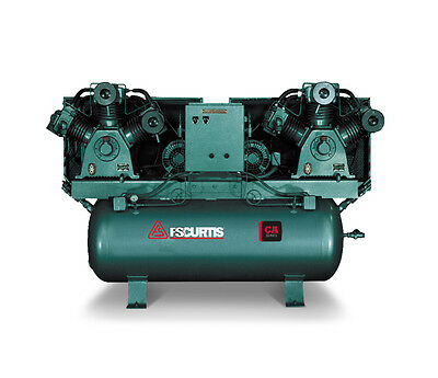 Fs Curtis Ca Series Duplex Horizontal Tank Mounted Air Compressor 10 Hp