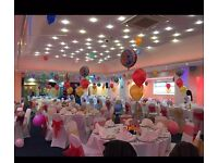 Balloon Decoration Hire,Chair Covers & Sashes Hire, Table Linen , All London Areas ,Essex & Kent