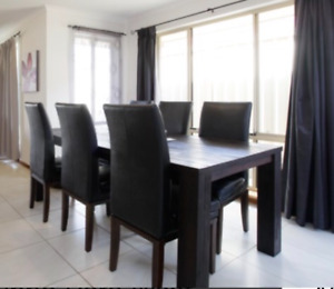 SOLD PENDING PICKUP - Dining table and 8 chairs