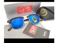 Clubmaster variety of colours Glass lens
