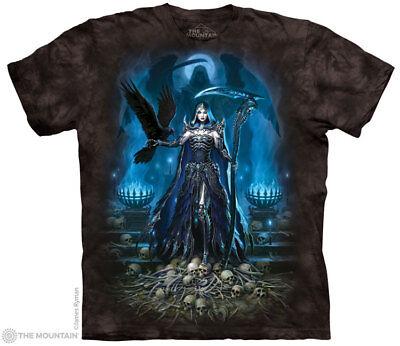 The Mountain GRIM REAPER QUEEN T Shirt Scythe Skull Skeleton Halloween Tee S-5XL