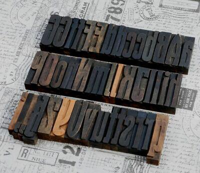 A-z Alphabet 3.23 Letterpress Wooden Printing Blocks Wood Type Art Nouveau Deco