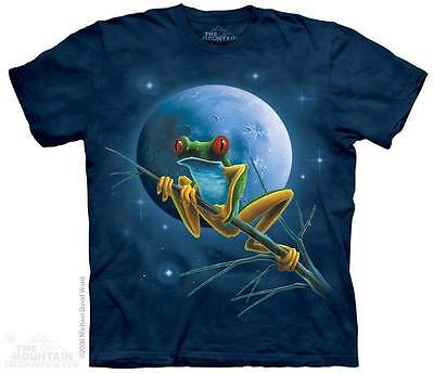 bf9194afdf22a UNISEX T-SHIRT CELESTIAL FROG STONEWASHED MULTICOLORED GRAPHIC TEE SIZE  SMALL