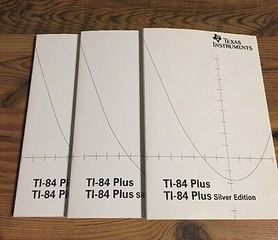 1 Texas Instruments Ti 84 Plus Silver  Graphing Calc  Instruction Manual Only