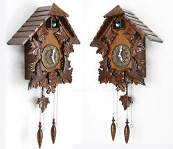 Retro European Vintage Cuckoo Clock Cuckoo Clock Hand-carved wood wall clock