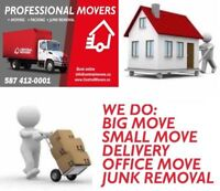 (587) 412-0001   PROFESSIONAL MOVERS - AFFORDABLE  MOVING PRICES