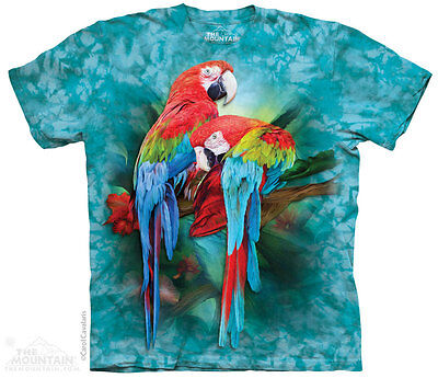 MACAW Parrot Colorful Tropical Birds T Shirt The Mountain Macaw Mates Tee S-5XL](Birds T)