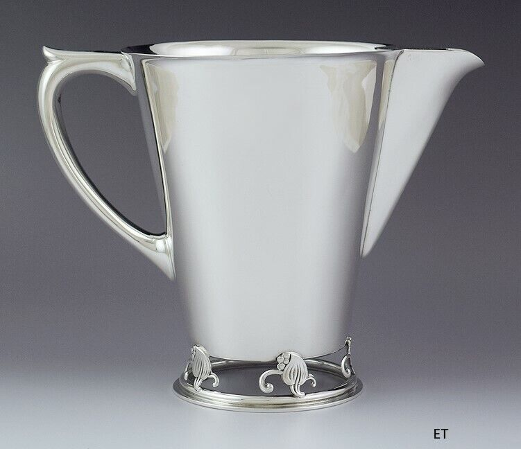 Rare Vintage Frank Smith Sterling Silver Woodlily Water Pitcher 626