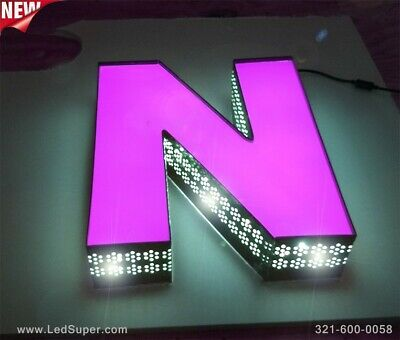 New Led Channel Letters Sign Front Lit And Side Lit - 18 - Custom Made