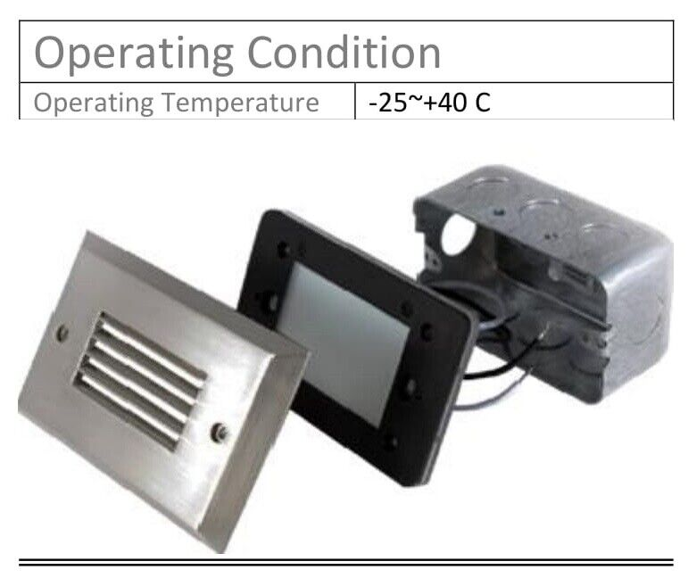 LED Step/Wall light - Indoor/Outdoor Single Gang box - step