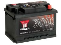 BRAND NEW YAUSA YBX3075 CAR BATTERY - 3 years warranty