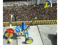Children's Trike with parent handle. .