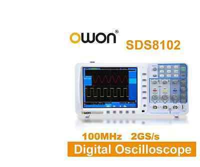 Owon 100mhz Oscilloscope Sds8102-v 2gs 8 100mhz Lcd W 3 Yrs Usa Warrranty